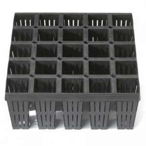 "25 cavity 5.5"" deep tray with side slits"